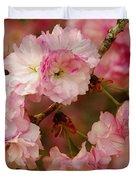 Pink Spring Blossoms Duvet Cover