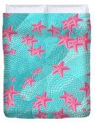 Pink Starfish Duvet Cover