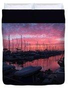 Pink Summer Sunset  Duvet Cover