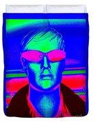 Pink Sunglasses Duvet Cover