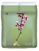 Pink Tree Flower Buds Duvet Cover
