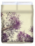 Pink Trees Duvet Cover