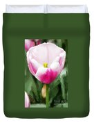 Pink Tulip - A Digital Painting Duvet Cover