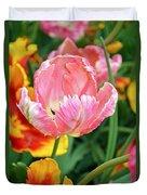 Pink Tulip Duvet Cover