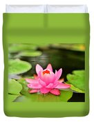 Pink Water Lilly Duvet Cover