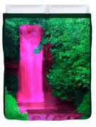 Pink Waterfall Duvet Cover