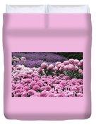 Pink Waves Duvet Cover