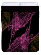 Pink Web Duvet Cover