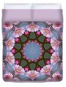 Pink Weeping Cherry Blossom Kaleidoscope Duvet Cover