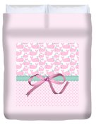 Pink Whales Duvet Cover