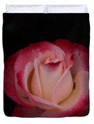 Pink White Rose Duvet Cover