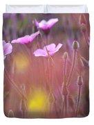 Pink Wild Geranium Duvet Cover