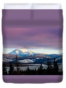 Pink Winter Clouds Duvet Cover
