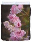 Pink Winter Roses One Duvet Cover