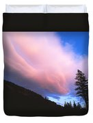 Pink Yellowstone Sunset Duvet Cover