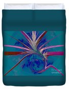 Pink Yucca Twist Duvet Cover