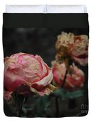 Pink Roses In The First Snow I V Duvet Cover