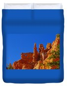 Pinnacles Of Red Rock Duvet Cover