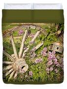 Pioneer Blossoms - Casper Wyoming Duvet Cover