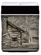 Pioneer Cabin And Shed In Cades Cove E227 Duvet Cover