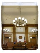 Pioneer Courthouse Courtroom In Portland Oregon Downtown Duvet Cover