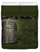 Pioneer Grave Duvet Cover by Jean Noren