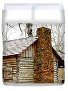 Pioneer Log Cabin Chimney Duvet Cover
