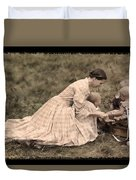 Pioneer Mother And Children Duvet Cover