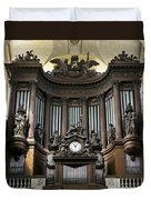Pipe Organ In St Sulpice Duvet Cover