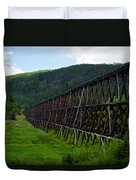 Pipeline Trestle Duvet Cover