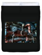 Pipes And Clocks Duvet Cover