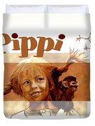 Pippi Longstocking - Fan Version Duvet Cover