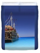 Pirate Boat Duvet Cover