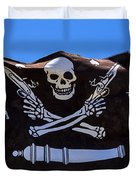 Pirate Flag With Skull And Pistols Duvet Cover
