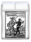 Pirate Henry Every, 1725 Duvet Cover