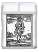 Pirate John Rackam, 1725 Duvet Cover