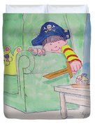 Pirate Poster For Kids Duvet Cover