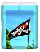 Pirate Ship Flag Of The Skull And Crossbones Duvet Cover
