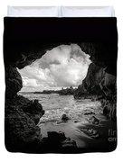 Pirate Treasure Cave Pa'iloa Beach Duvet Cover