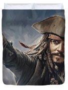 Pirates Of The Caribbean Johnny Depp Artwork 2 Duvet Cover