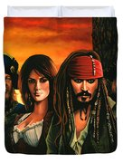 Pirates Of The Caribbean  Duvet Cover by Paul Meijering