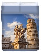 Pisa's Leaning Tower Duvet Cover by Brian Jannsen