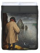 Pissing At The Moon  Duvet Cover by Pieter the Younger Brueghel