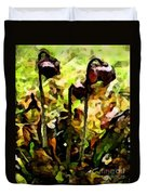 Pitcher Plant Abstraction Duvet Cover