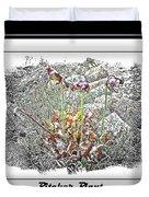 Pitcher Plant Illustration Duvet Cover