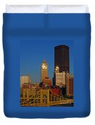 Pittsburg At Dusk Duvet Cover