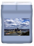 Pittsburgh After The Storm Duvet Cover