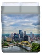 Pittsburgh And Above Duvet Cover