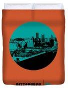 Pittsburgh Circle Poster 1 Duvet Cover