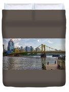 Pittsburgh Clemente Bridge Duvet Cover